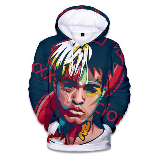 XXXtentacion 3 D Print Hip Hop Hoodie Unisex Long Sleeve Hooded Sweatshirt Streetwear For Youth Adults