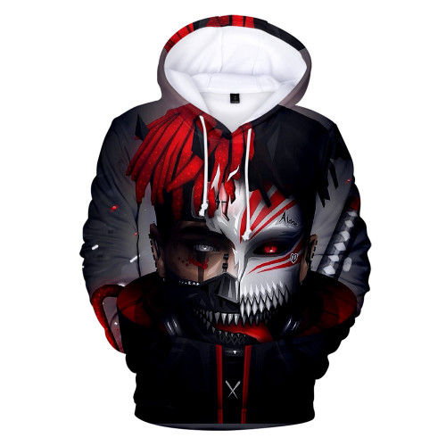 XXXtentacion With Tokyo Ghoul Hoodie Unisex Long Sleeve Cool Hooded Sweatshirt Outfit For Youth Adults
