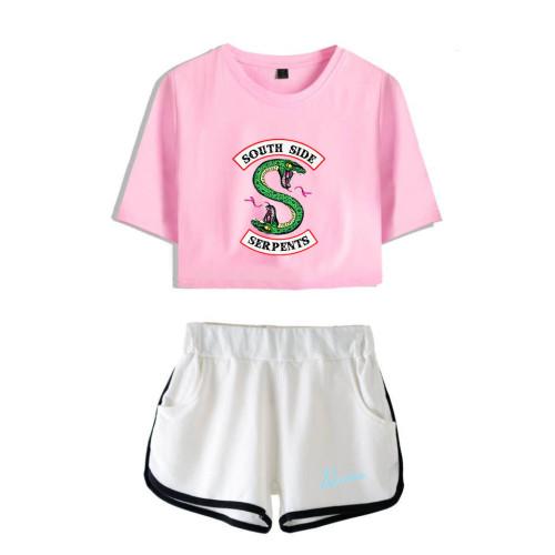 Riverdale Girls 2pcs Set Trendy Crop Top and Shorts Set