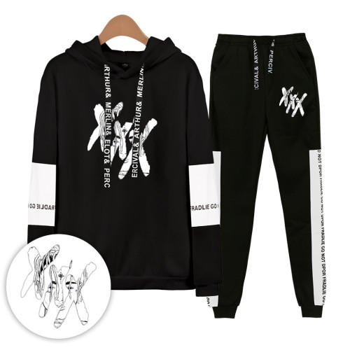 XXXtentacion Sweatsuit Unisex Hoodie and Sweatpants Set Youth Adults Winter Fall Outfit