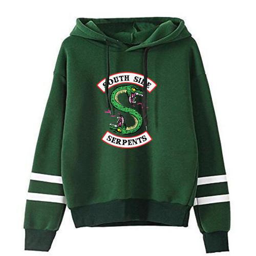 Riverdale Hoodie Unisex Long Sleeve Casual Fleece Hoodies  Southside Serpents Sweatshirt Streetwear