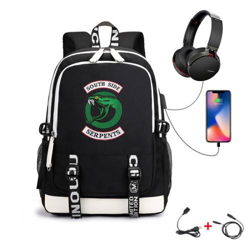 Riverdale Southside Serpent Backpack With USB Charging Port Students Backpack Bookbag