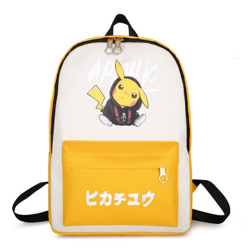 Pokemon Trendy Casual Cross Shoulder Bag Students Backpack Book Bag Travel Bag