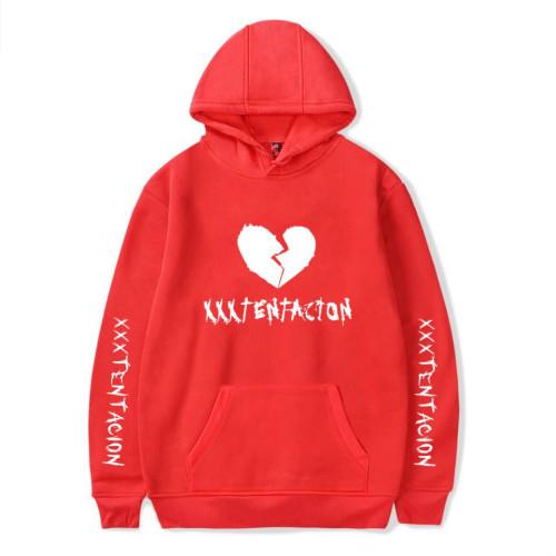 XXXtentacion Broken Heart Print Hoodie Youth Adults Hooded Sweatshirt Casual Streetwear Tops