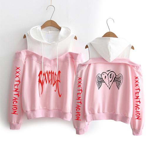XXXtentacion Revenge Sweatshirt off Shoulder Girls Women Hooded Sweatshirt