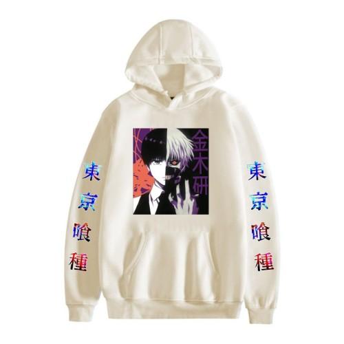 Tokyo Ghoul Ken Kaneki Hoodie Casual Pullover Sweatshirt Winter Fall Fleece Hoodies