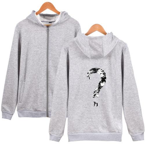 XXXtentacion Zipper Jacket Youth Adults Zip Up Hooded Jacket With Fleece Inside