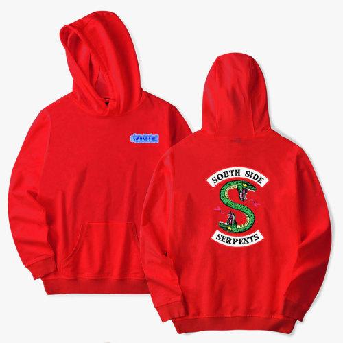 Riverdale Southside Serpent Hoodie Casual Long Sleeve Hooded Pullovers Streewear Tops