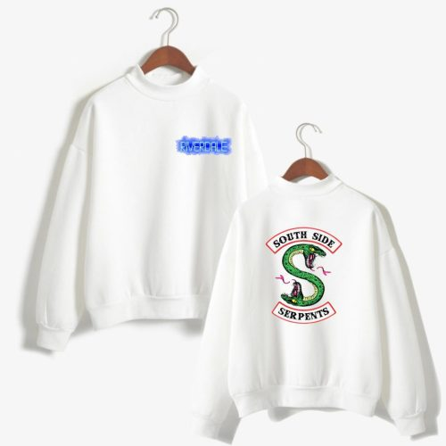 Riverdale Southside Serpent Girls Sweatshirt Turtle Neck Trendy Long Sleeve Pullovers