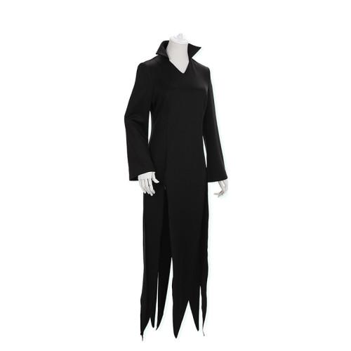 Anime One Punch Man Tatsumaki Costume Black Dress Halloween Cosplay Outfit