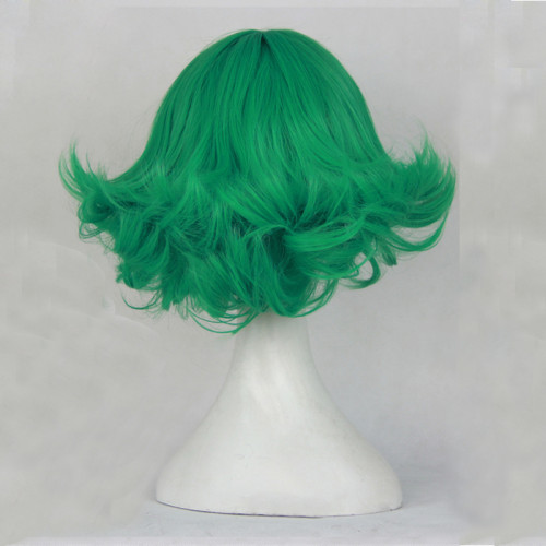 Anime One Punch Man Tatsumaki Cosplay Wigs Green Short Cosplay Wigs Accessories