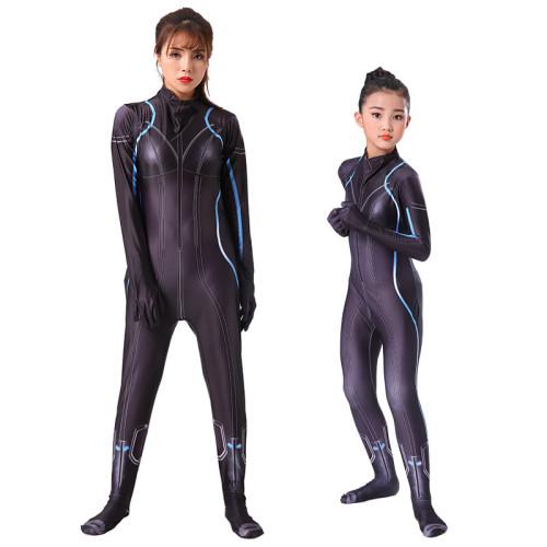 [Kids/Adults]Black Widow Black Zentai Costume Halloween Zentai Costume Outfit