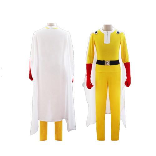 Anime One Punch Man Saitama Costume Halloween Costume With Cloak Halloween Cosplay Outfit