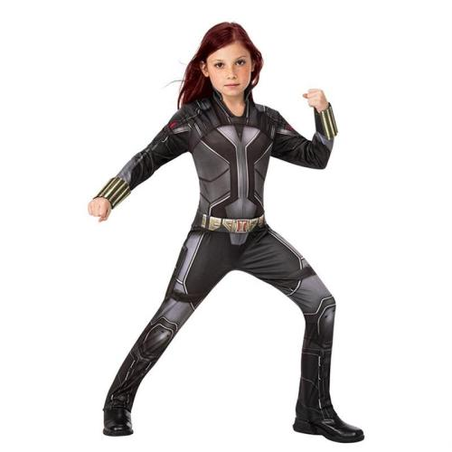 2021 New Black Widow Kids Costume Jumpsuit Halloween Cosplay Outfit