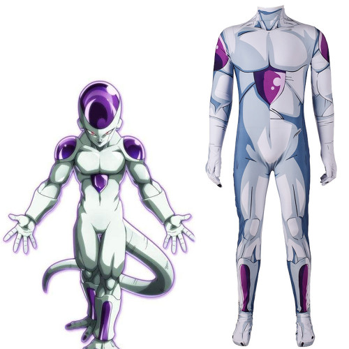 [Kids/Adults]Anime Dragon Ball Frieza Cosplay Costume Zentai Halloween Spandex Jumpsuit Costume