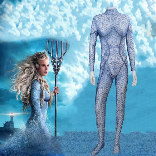 [Kids/Adults] Aquaman Atlanna Zentai Costume Halloween Cosplay Spandex Jumpsuit Outfit