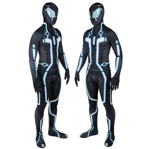 [Kids/Adults] Tron Cosplay Cosrtume Zentai Blue Version Halloween Costume Jumpsuit