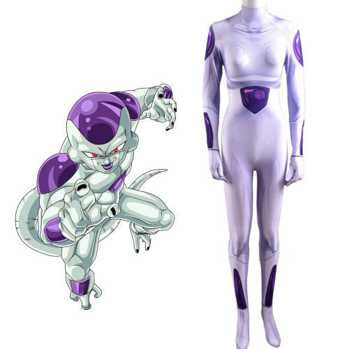 [Kids/Adults]Anime Dragon Ball Frieza Spandex Zentai Costume Halloween Cosplay Outfit