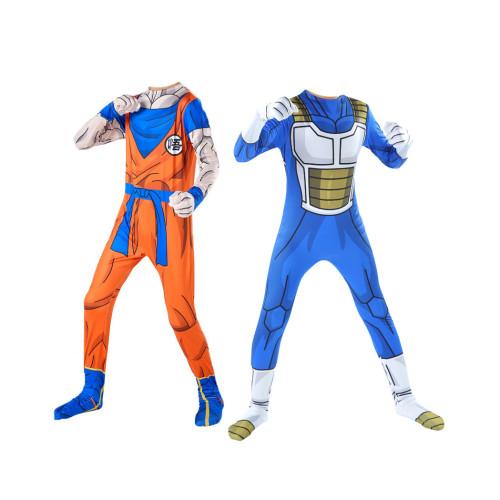 [Kids/Adults] Anime Dragon Ball Son Goku Bejita Cosplay Costume Jumpsuit Halloween Zentai Costume