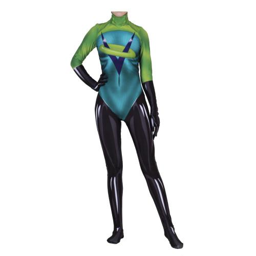 [Kids/Adults] Incredibles Voyd Zentai Costume Halloween Cosplay Spandex Jumpsuit