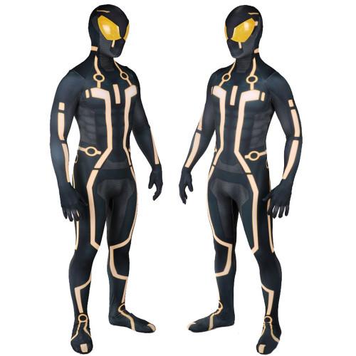 [Kids/Adults] Tron Cosplay Cosrtume Zentai Yellow Version Halloween Costume Jumpsuit