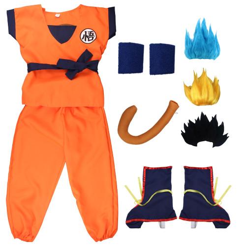 [Kids/Adults]Anime Dragon Ball Son Goku Cosplay Costume Full Set Unisex Halloween Cosplay Outfit