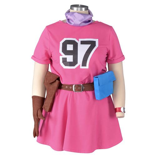 Anime Dragon Ball Bulma Cosplay Pink Dress Halloween Festival Cosplay Outfit