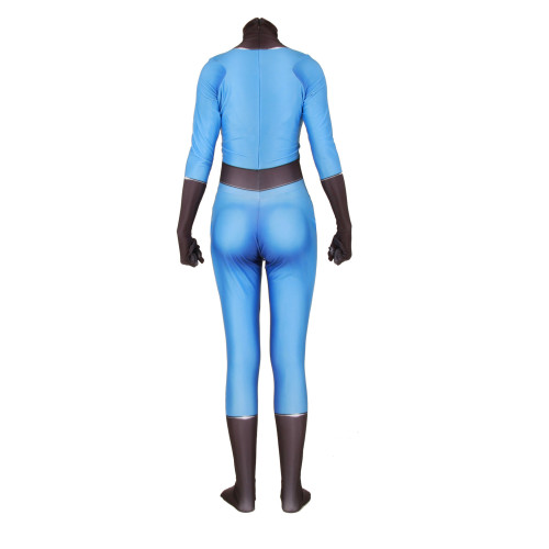 [Kids/Adults] Fantastic Four Invisible Woman Zentai Costume Halloween Cosplay Jumpsuit