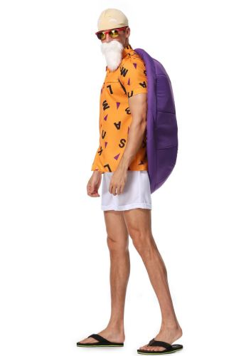 Anime Dragon Ball Master Roshi Cosplay Costume Top and Pants Set Halloween Festival Cosplay Outfit