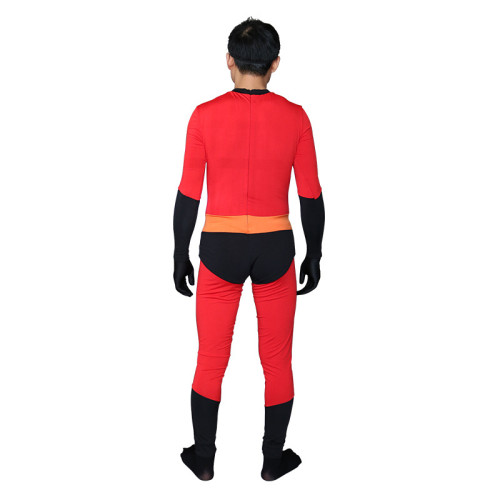 Incredibles 2 Costume Mr Incredibles Cosplay Jumpsuit Spandex Halloween Zentai Costume