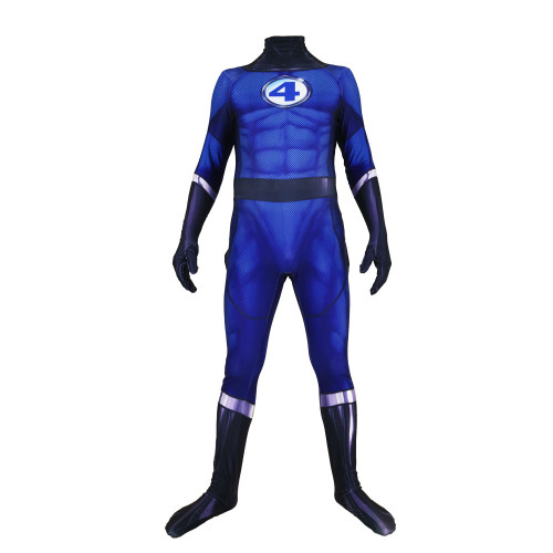 [Kids/Adults] Fantastic Four Cosplay Jumpsuit Halloween Party Spandex Jumpsuit Costume