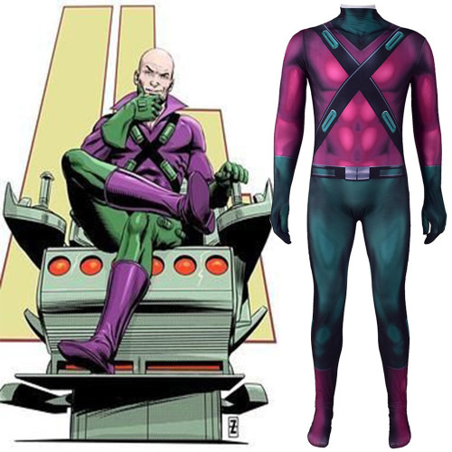 [Kids/Adults] Lex Luthor Costume Spandex Jumpsuit Costume Zentai Halloween Festival Outfit