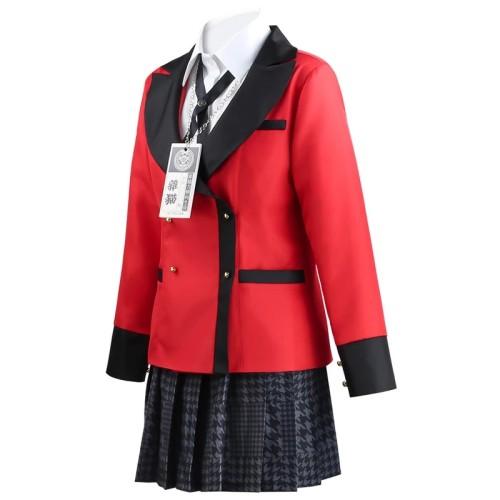Anime Kakegurui Compulsive Gambler Kirari Momobami Uniform Costume Halloween Cosplay Outfit