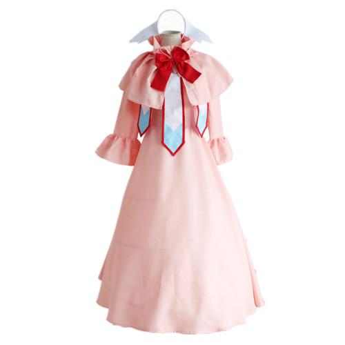 Anime Fairy Tail Mavis Vermilion Cosplay Dress Halloween Girls Women Cosplay Pink Dress