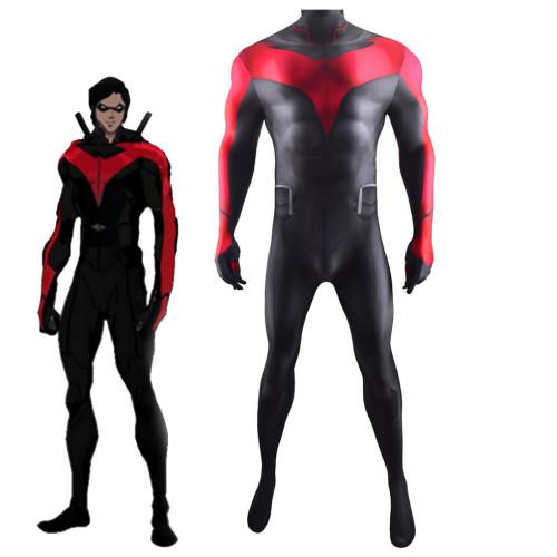 [Kids/Adults] Teen Titans Nightwing Dick Grayson Halloween Zentai Costume Spandex Jumpsuit