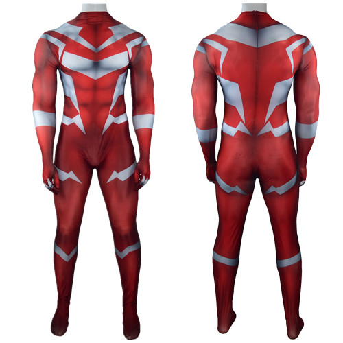 [Kids/Adults] Teen Titans Beast Boy Red Zentai Costume Hallooween Festival Party Outfit