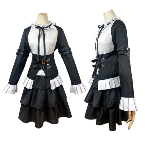 Anime Fairy Tail Erza Scarlet Maid Costume Halloween Party Cosplay Outfit