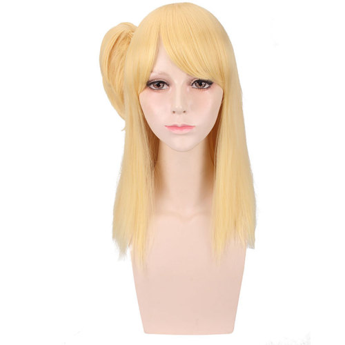 Anime Fairy Tail Lucy Heartfilia Cosplay Wigs Long Golden Wigs Cosplay Accessories