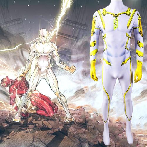 [Kids/Adults] The Flash Godspeed  Zentai Costume Spandex Unisex Jumpsuit Costume