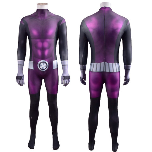 [Kids/Adults] Teen Titans Beast Boy/Changeling Costume Hallooween Zentai Costume Spandex Jumpsuit Halloween Party Outfit