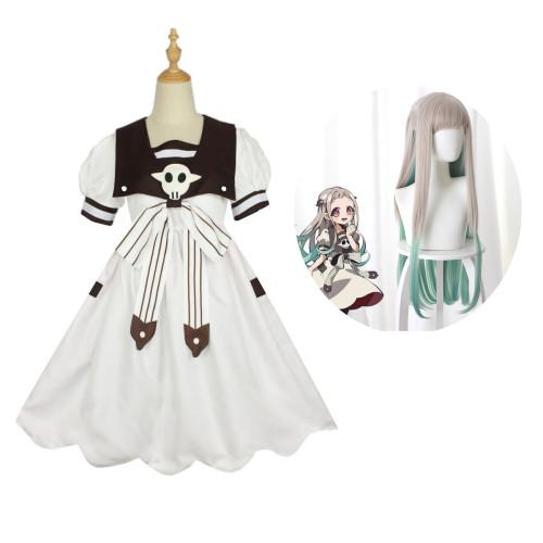 Anime Toilet-bound Hanako-kun Yashiro Nene Cosplay Costume+Wigs Halloween Full Set Costume