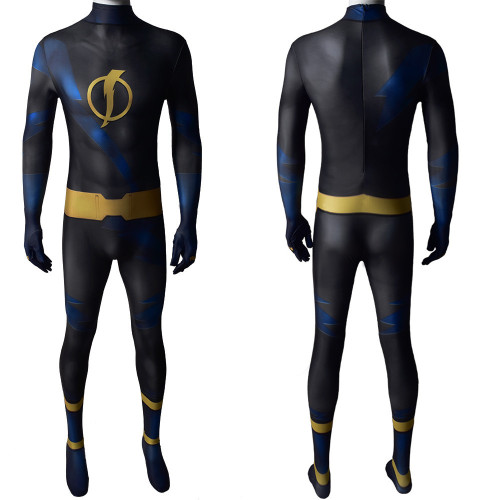 [Kids/Adults] Teen Titans Static Costume Spandex Zentai Halloween Costume Jumpsuit