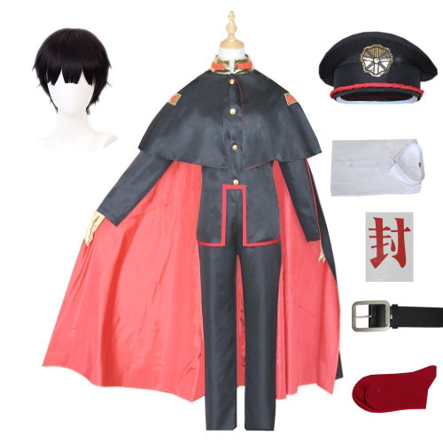 Anime Toilet-bound Hanako-kun Costume Yugi Amane Cosplay Costume+Hat+Wigs Halloween Whole Set Costume