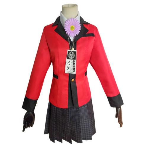 Anime Kakegurui Compulsive Gambler Yumemi Yumemite Cosplay Costume Uniform
