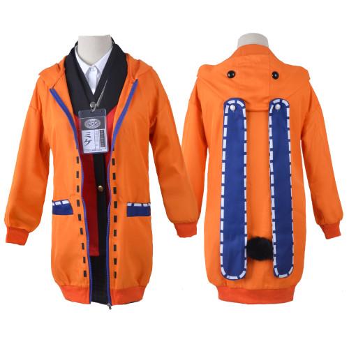 Anime Kakegurui Compulsive Gambler Yomozuki Runa Costume Full Set With Cloak and Socks