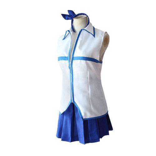 Anime Fairy Tail Lucy Heartfilia Costume Uniform Top and Skirt Halloween Female Costume
