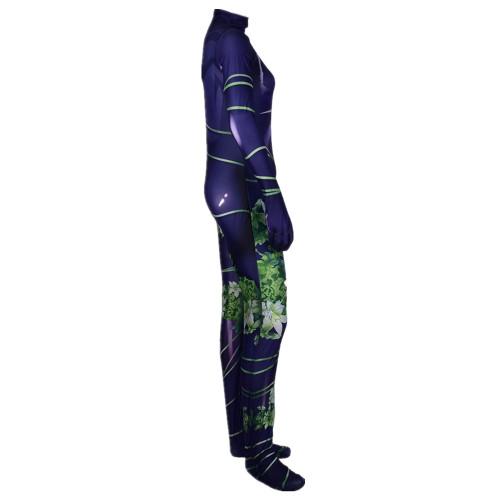 [Kids/Adults] Poison Ivy Costume Halloween Unisex Spandex Jumpsuit Costume