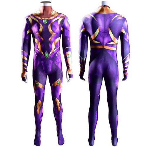 [Kids/Adults] Teen Titans Starfire Purple Zentai Costume Halloween Cosplay Outfit