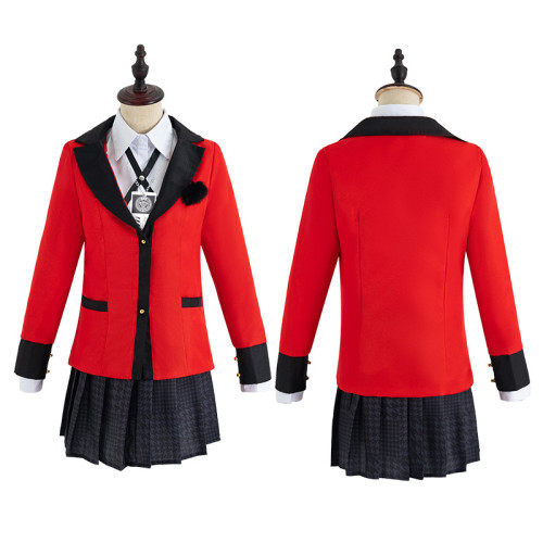Anime Kakegurui Compulsive Gambler Yumeko Jabami/Mary Saotome Cosplay Uniform Femal Cosplay Suit Halloween Girls Costume