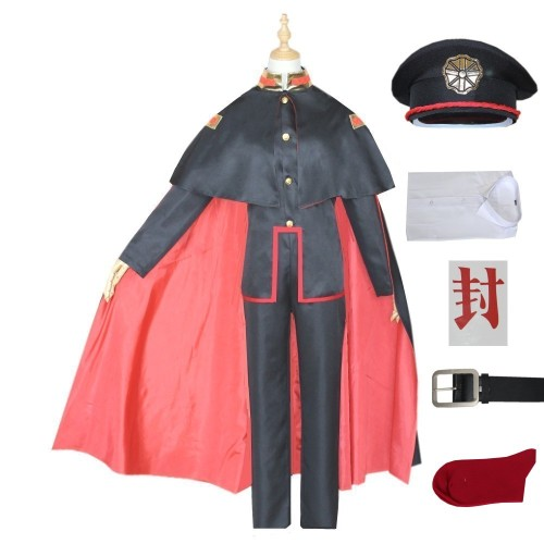 Anime Toilet-bound Hanako-kun Costume Yugi Amane Cosplay Costume Full Set With Cloak and Hat